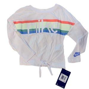 Toddler Nike Rainbow Long Sleeve Top - 4T